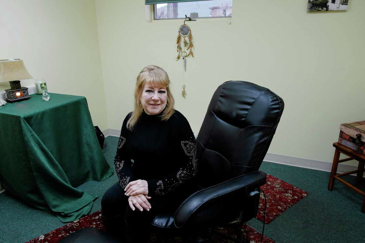Mary Hartshorne in her space where she performs reiki treatments on Thursday, Jan. 19, 2017, in Rotterdam, N.Y. Hartshorne worked at the former St. Clare's Hospital. (Paul Buckowski / Times Union)