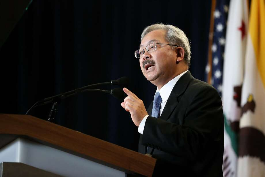"""Mayor Lee said it's """"time to fight back"""" against White House policies. Photo: Amy Osborne, Special To The Chronicle"""
