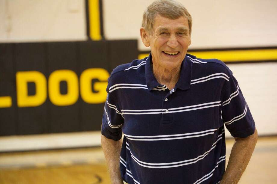 Former Texas Lutheran men's basketball coach Jim Shuler attends an event to raise funds in his honor at Memorial Gym in Seguin in 2016. Photo: Courtesy Photo /Texas Lutheran Athletics