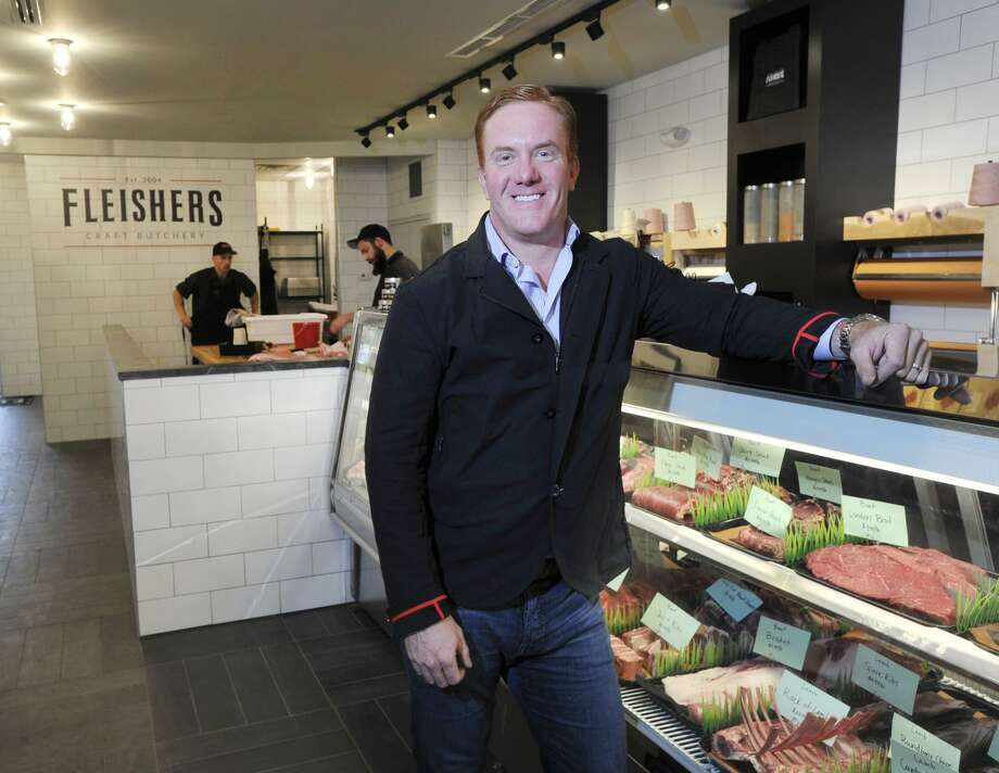Ryan Fibiger, the chief executive officer of  Fleishers Craft Butchery, in the company's recently opened store at 160 E. Putnam Ave., in the Cos Cob section of Greenwich, Conn., Wednesday, Oct. 28, 2015. Photo: Bob Luckey Jr. / Hearst Connecticut Media / Greenwich Time