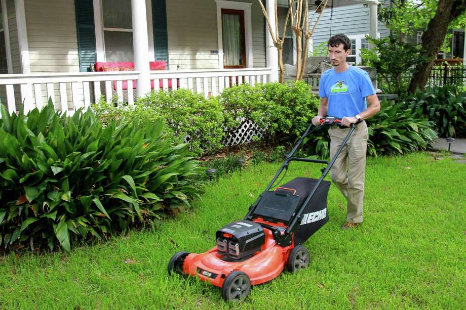 Mowing begins in earnest in April. Be ready with your mower tuned and blades sharpened. Photo: Gary Fountain /For The Houston Chronicle / Copyright 2016 Gary Fountain