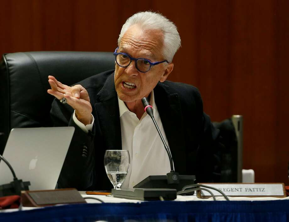 Regent Norman Pattiz participates in a discussion by the UC Board of Regents to raise student tuition fees before the board approved the plan during a meeting at the UCSF Mission Bay campus in San Francisco, Calif. on Thursday, Jan. 26, 2017. A lawsuit was filed against Pattiz stating the UC regent brandished a loaded weapon at an employee. Photo: Paul Chinn, The Chronicle