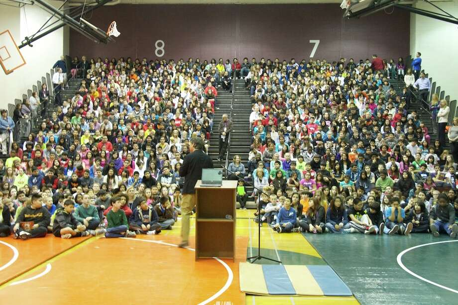 Green visits schools across the country to talk to kids about his books and the importance of reading. Photo: Courtesy