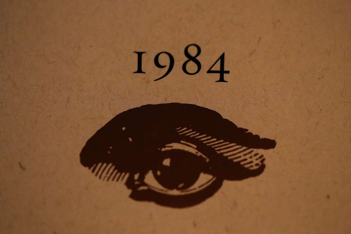 LOS ANGELES, CA - JANUARY 25: A copy of George Orwell's novel '1984' sits on a shelf at The Last Bookstore on January 25, 2017 in Los Angeles, California. George Orwell's 68 year-old dystopian novel '1984' has surged to the top of Amazon.com's best seller list and its publisher Penguin has put in an order for 75,000 reprints. (Photo by Justin Sullivan/Getty Images)