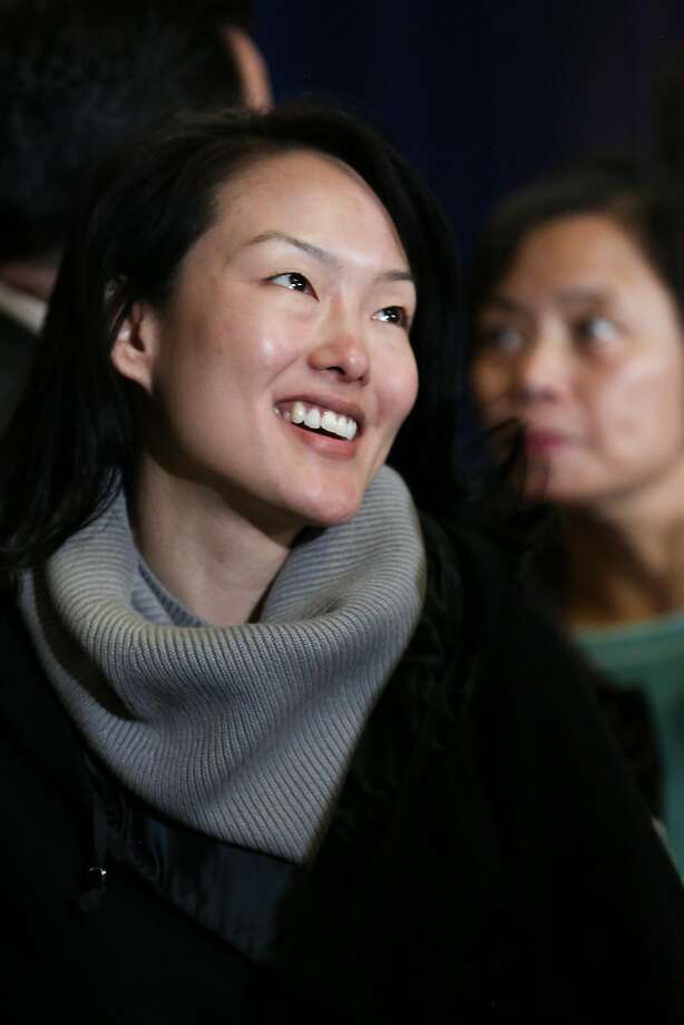 Supervisor Jane Kim speaks with audience members after Mayor Ed Lee's annual state of the city address on Thursday, January 26, 2017 in San Francisco, Calif. Photo: Amy Osborne, Special To The Chronicle