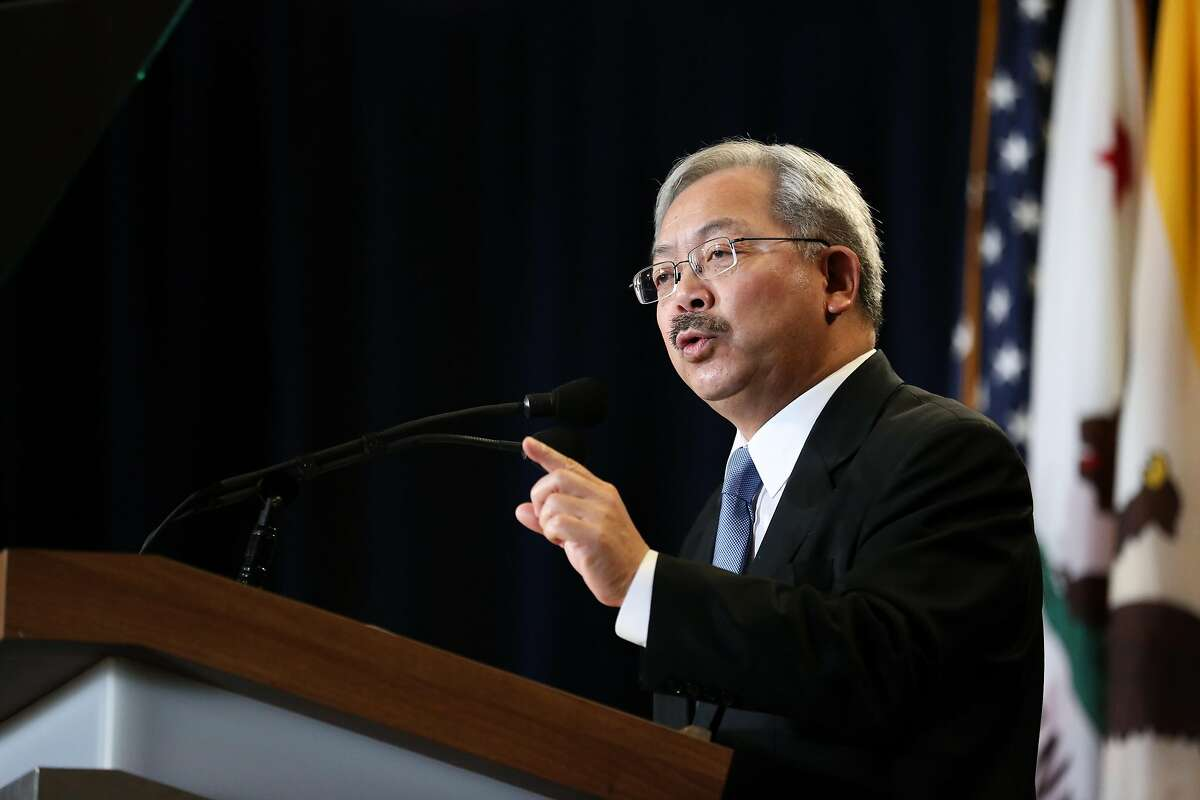 Mayor Ed Lee gives his annual state of the city address on Thursday, January 26, 2017 in San Francisco, Calif.