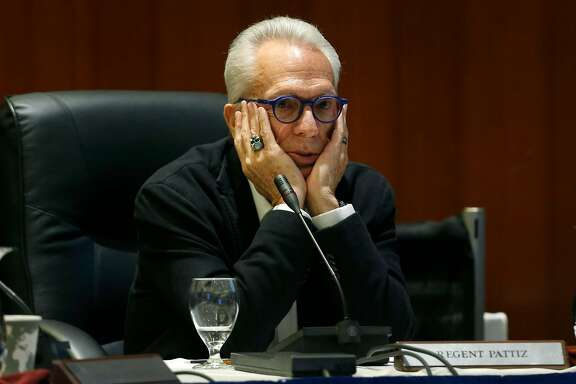 Regent Norman Pattiz participates in a discussion by the UC Board of Regents to raise student tuition fees before the board approved the plan during a meeting at the UCSF Mission Bay campus in San Francisco, Calif. on Thursday, Jan. 26, 2017.