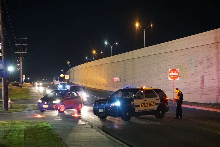 A motorcyclist is in critical condition after colliding with an SUV Thursday Jan. 26, 2017 about 9 p.m. on the southbound access road of Northwest Loop 410 just south of Ingram Road, according to the San Antonio Police Department. Photo: Jacob Beltran