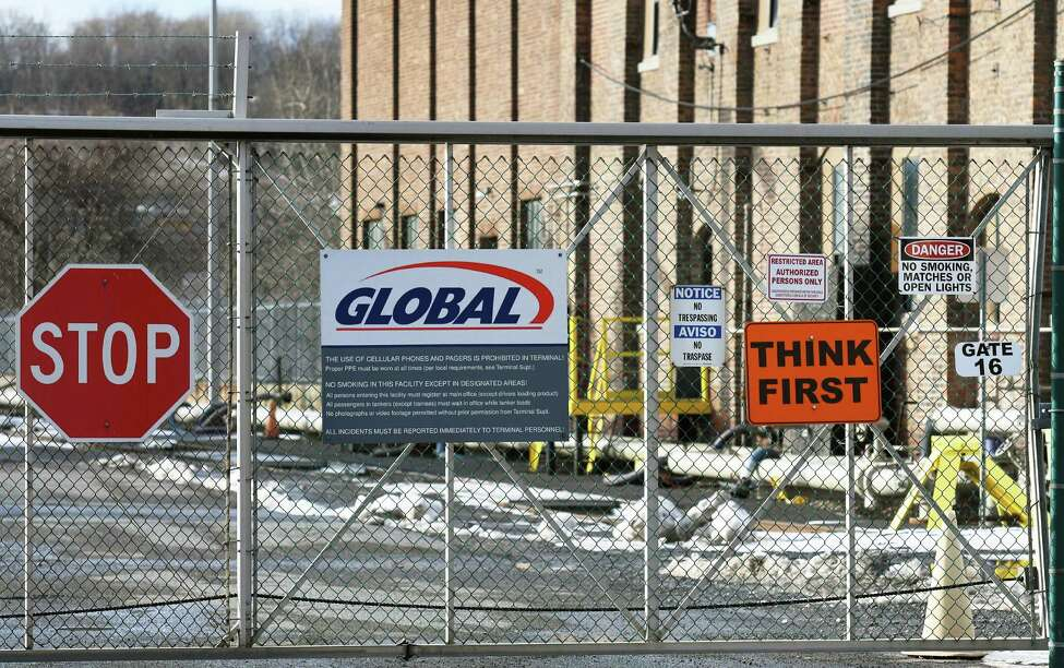 Entrance to the Global Partners facility at the Port of Albany on Thursday, Jan. 26, 2017, in Albany, N.Y. (John Carl D'Annibale / Times Union)