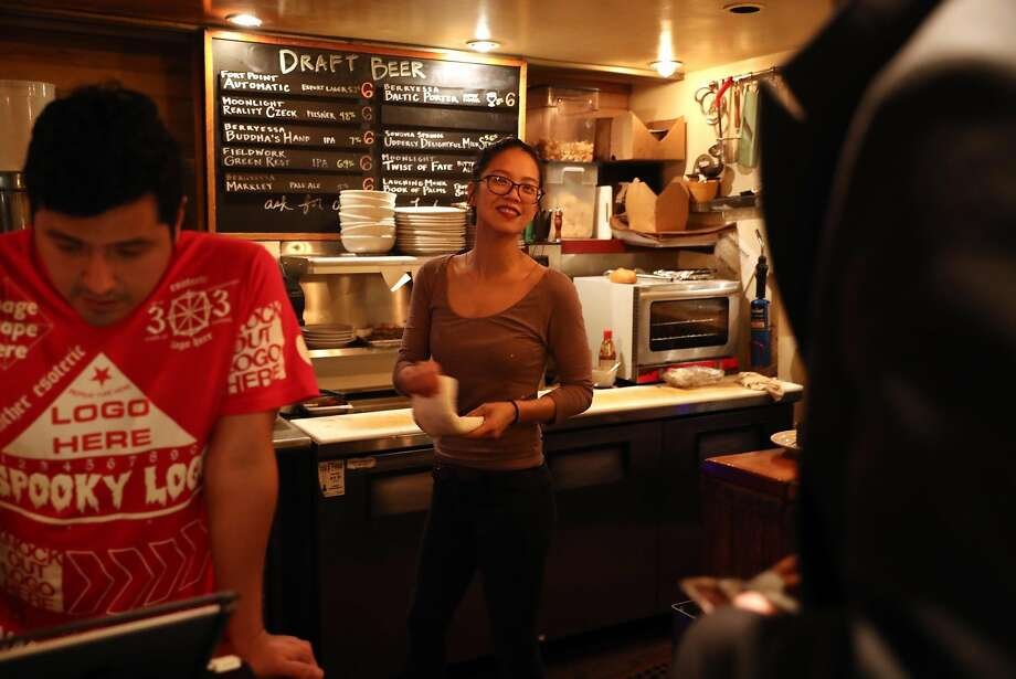 Rice Paper Scissors' Katie Kwan at her Vietnamese pop-up at Mojo Bicycle Cafe in S.F. Photo: Scott Strazzante, The Chronicle
