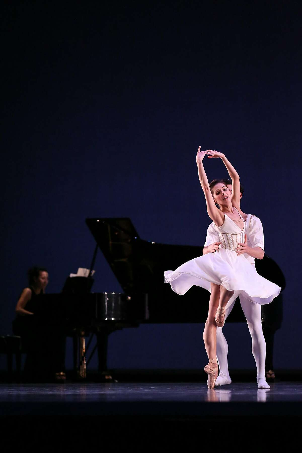 SF Ballet's Lauren Strongin and Joseph Walsh perform in a dress rehearsal of Seven Sonatas on Thursday, January 26, 2017 in San Francisco, Calif.