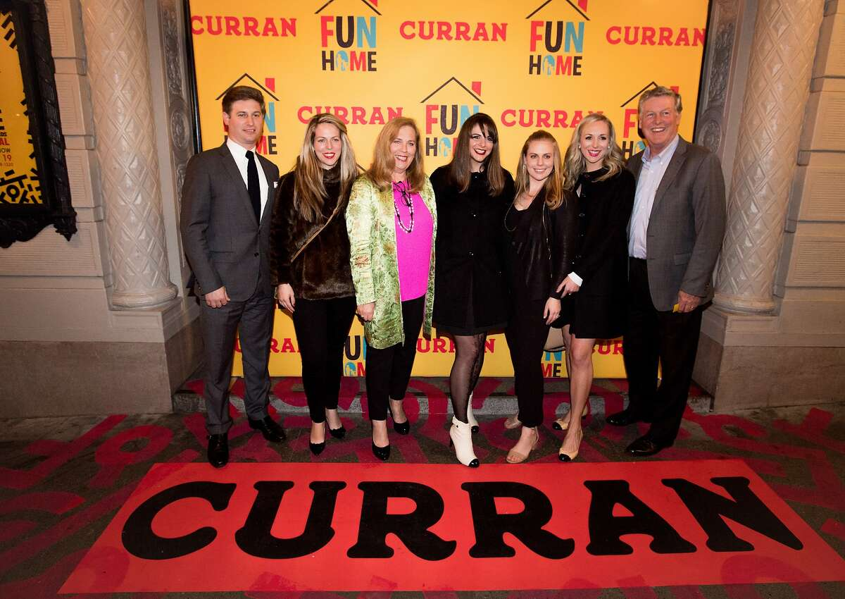 The Curran family poses for a photo at the Curran Theater where the SF premiere of the Tony-winning Broadway musical �Fun Home,� is performed in San Francisco on January 26, 2017.