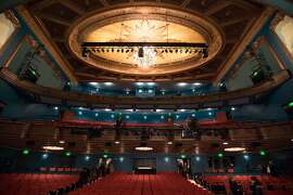 The inside of the Curran Theater where the SF premiere of the Tony-winning Broadway musical �Fun Home,� is performed, is seen in San Francisco on January 26, 2017.