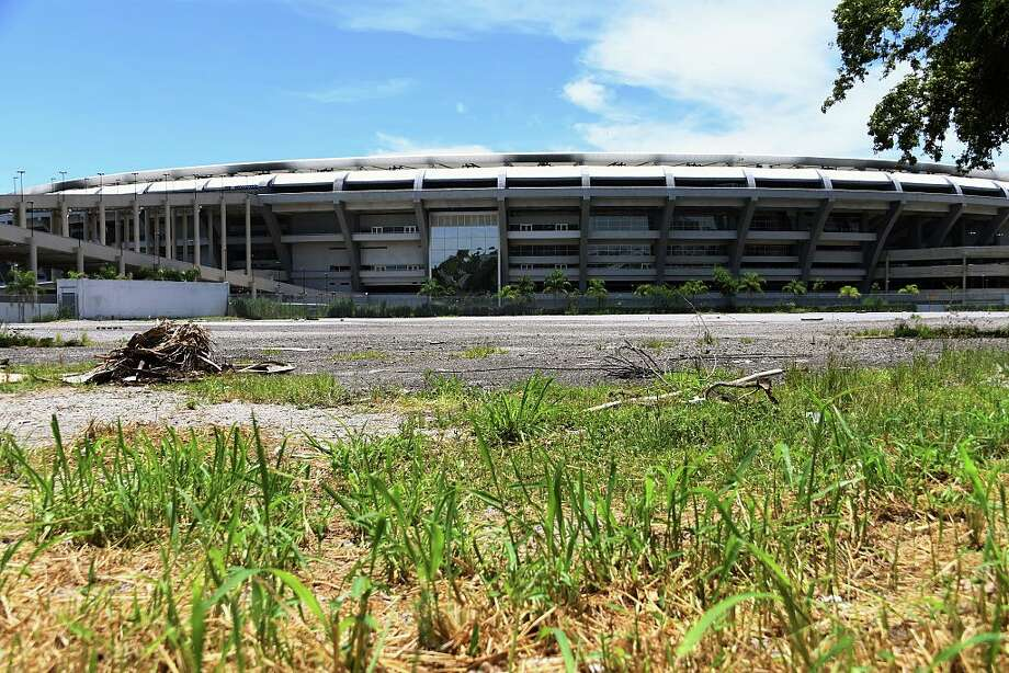 Partial view of the world-famous Maracana Stadium in Rio de Janeiro on January 18, 2017.  After playing a key role in the 2014 World Cup and 2016 Olympic Games, hosted by Brazil, the iconic Maracana Stadium has fallen into a state of abandon due to a contract dispute, and is closed to tourists. / AFP / VANDERLEI ALMEIDA        (Photo credit should read VANDERLEI ALMEIDA/AFP/Getty Images) Photo: VANDERLEI ALMEIDA/AFP/Getty Images