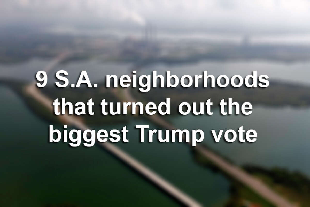Election data shows which San Antonio-area neighborhoods turned out the highest percentage of Trump voters in the 2016 Presidential Election.
