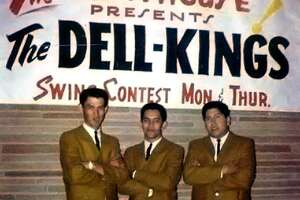 The legendary Dell-Kings circa 1963 in South Gate, California. The legendary San Antonio Chicano R& band included singer-guitarist Victor Lopez (from left) and saxophonists Cleto Escobedo and Frank Rodarte. Rodarte led the Las Vegas style act that later became Los Blues with bluesman Randy Garibay.