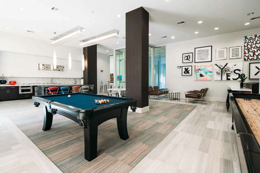 One of the amenities of Rivera apartments is a resident lounge.
