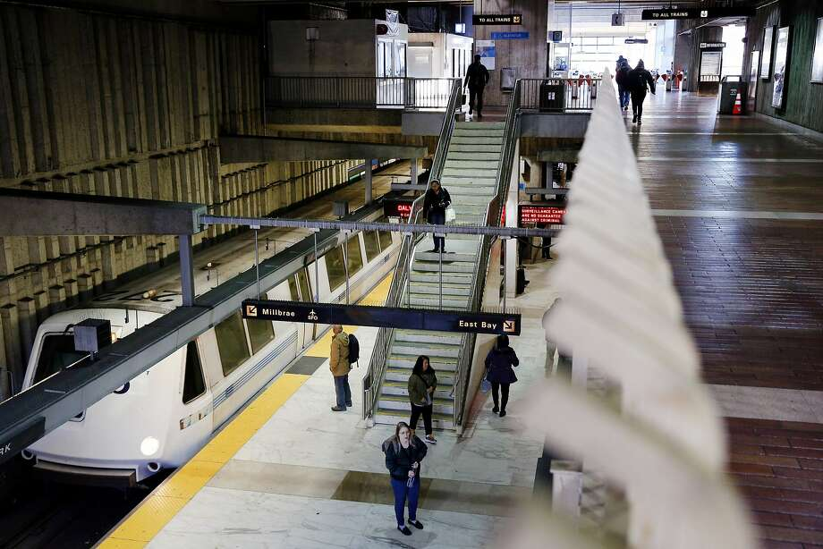 Delays are expected Sunday between Daly City and Balboa Park Station (pictured here) due to an emergency tree removal. Photo: Santiago Mejia, The Chronicle