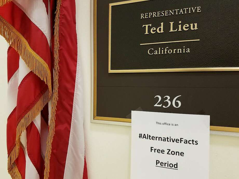 Trump critic Rep. Ted Lieu, D-Los Angeles, has declared his office an #AlternativeFacts free zone. That doesn't mean we San Franciscans have to follow his example. Click for a selection of #AlternativeSFfacts. Photo: Twitter