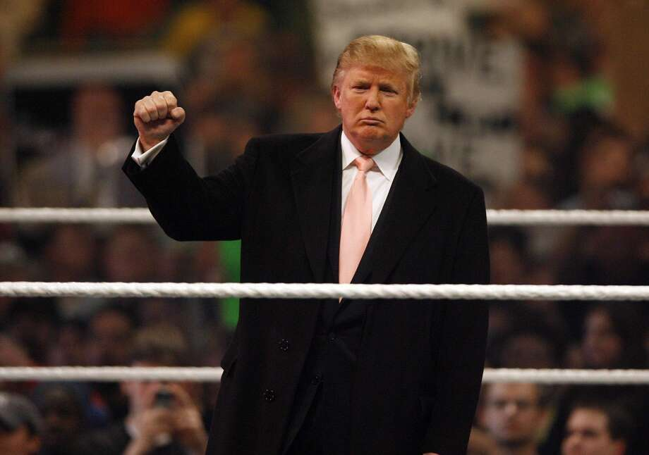 Trump and the WWEClick through to see Trump's most historic, best moments with WWE. Photo: Leon Halip/WireImage