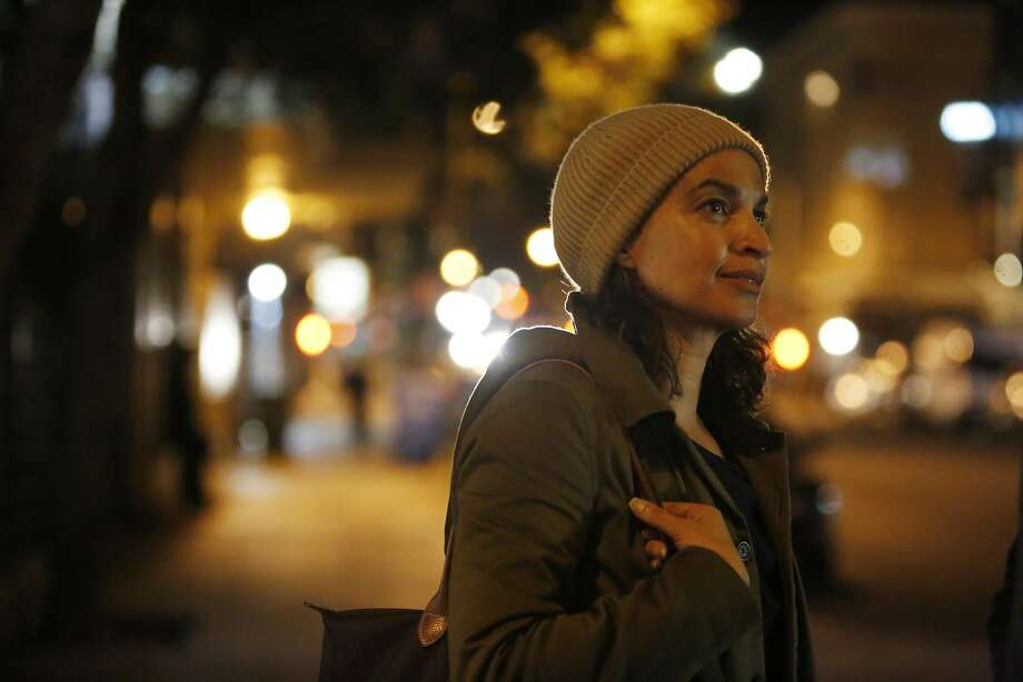 Chronicle reporter Caille Millner stands on the corner of Hyde and Turk after volunteering for the Homeless Point-in-Time Count on Thursday, January 26,  2017 in San Francisco, Calif. Photo: Lea Suzuki, The Chronicle
