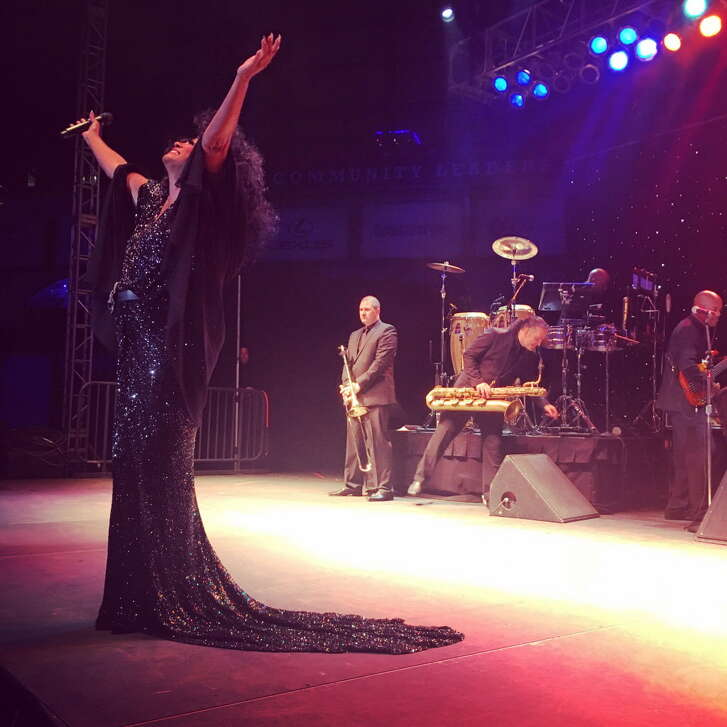 Diana Ross performs during the Diamond Dreams gala.