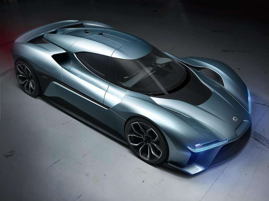 Nio built its $1.2 million EP9 all-electric race car to show that electric cars could be super-high-performance vehicles. The EP9, which has a top speed of 194 mph, broke world records on tracks in Germany and France in 2016. Photo: Courtesy Nio