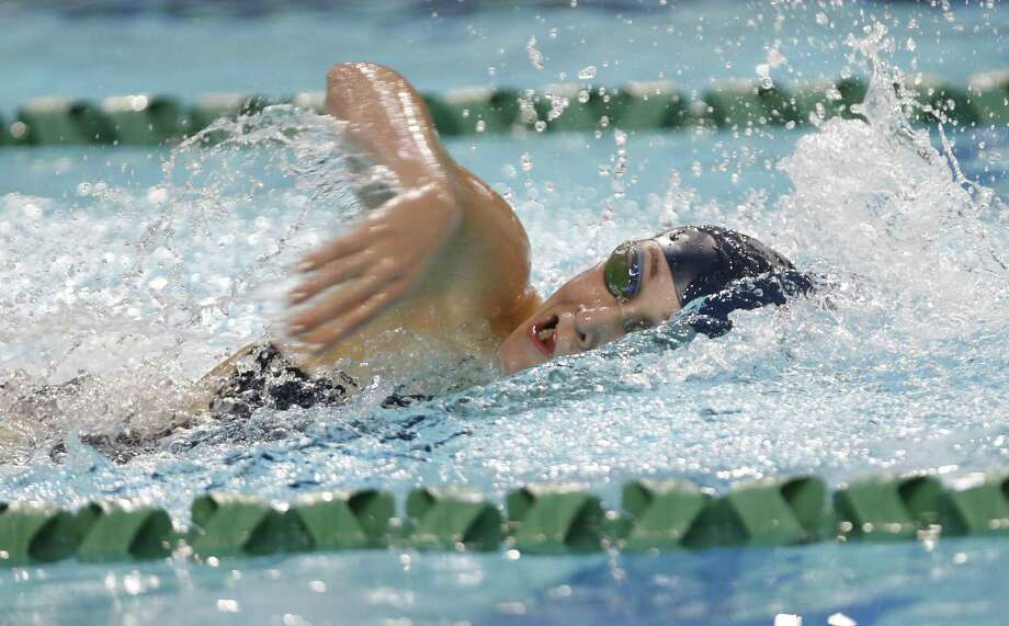 Boerne Champion's Brittney Pike swims in the 100-yard freestyle at the District 28-5A meet at Palo Alto Natatorium on Jan. 27, 2017. Photo: Ron Cortes /For The Express-News / Freelance