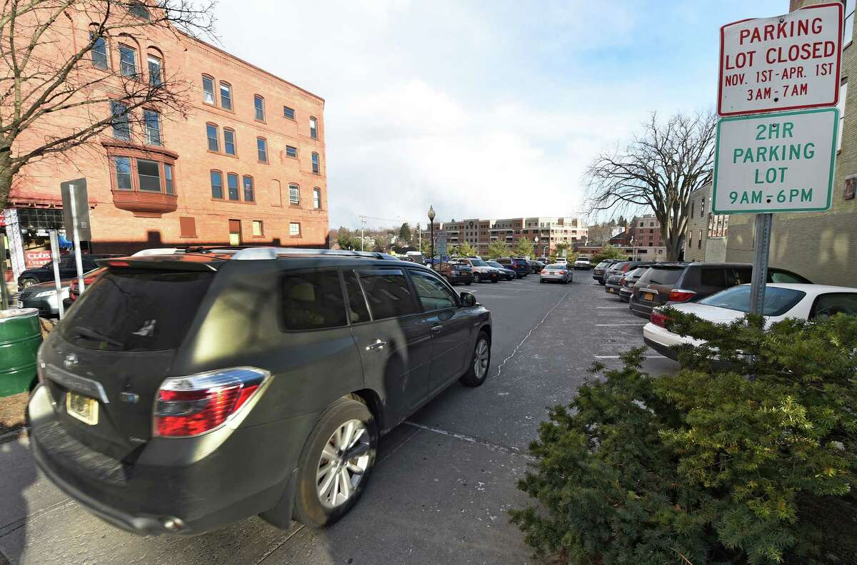 The 42-spot Collamer parking lot sold by the city is pictured on Wednesday, Dec. 31, 2014, at 500 Broadway in Saratoga Springs, N.Y. (Skip Dickstein/Times Union)