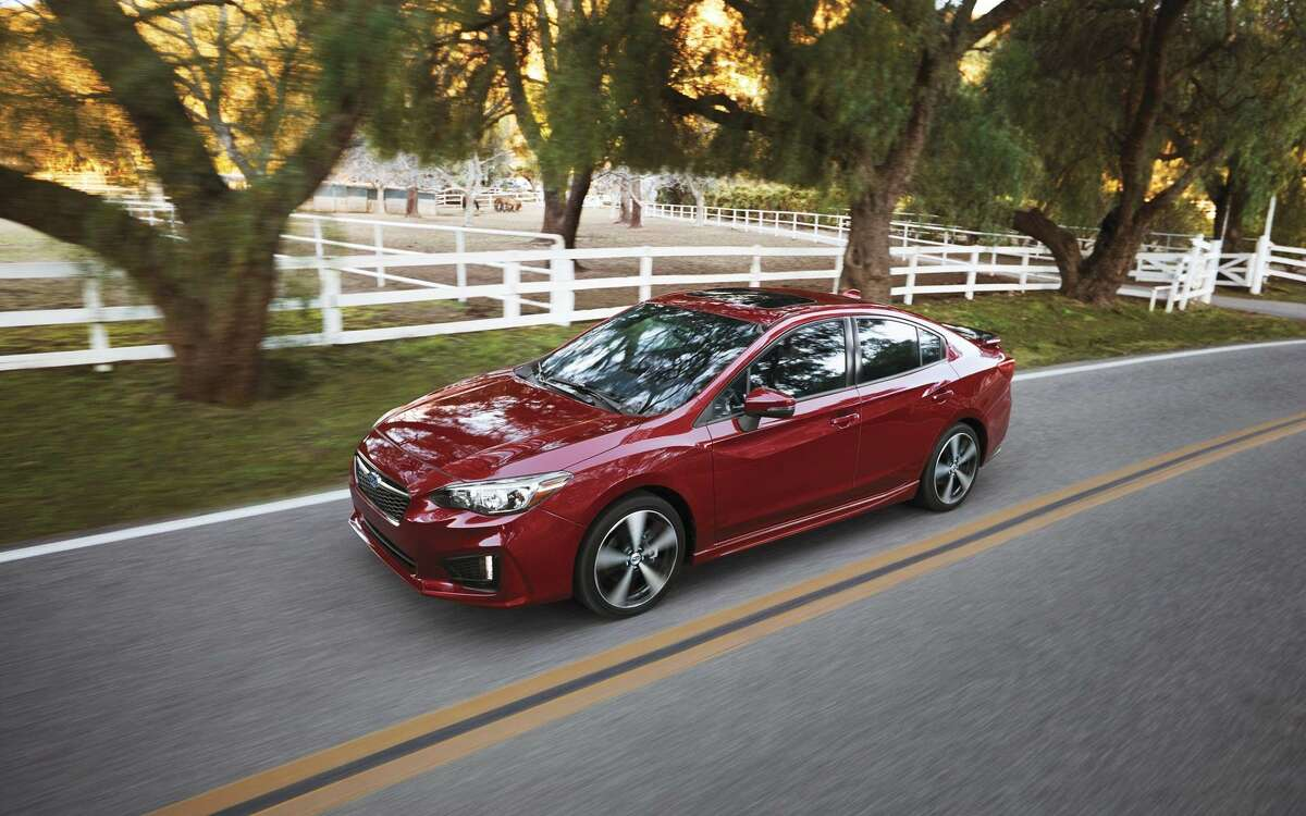 9. Subaru Impreza Percentage of Impreza drivers with a speeding violation: 14.66% MSRP (base model): $18,595 Reported horsepower: 152 The Impreza is a well-reviewed midsize vehicle that has great resale value and is terrific in the snow (AWD is standard.) It has the least horsepower of the cars on this list and its acceleration leaves something to be desired.