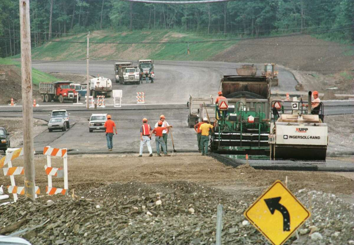 New York will limit highway work during this year's Thanksgiving week. In this file photograph, crews can be seen working on Routes 4 and 43 in North Greenbush. (File photo)