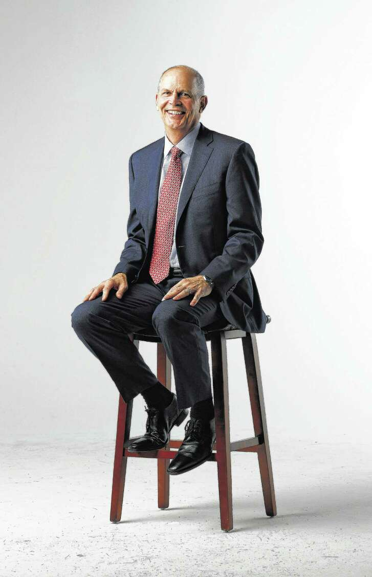 Jeff Shellebarger, president of Chevron North America, photographed in the Chronicle studio, Thursday, January 26,  2017. Shellebarger, the brand-new chairman of the Houston Partnership and a vice-chair of the Houston Super Bowl host committee.  ( Karen Warren / Houston Chronicle )