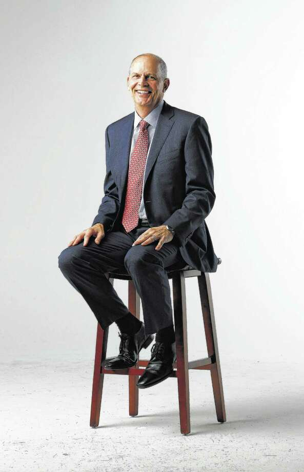 Jeff Shellebarger, president of Chevron North America, photographed in the Chronicle studio, Thursday, January 26,  2017. Shellebarger, the brand-new chairman of the Houston Partnership and a vice-chair of the Houston Super Bowl host committee.  ( Karen Warren / Houston Chronicle ) Photo: Karen Warren, Staff Photographer / 2017 Houston Chronicle