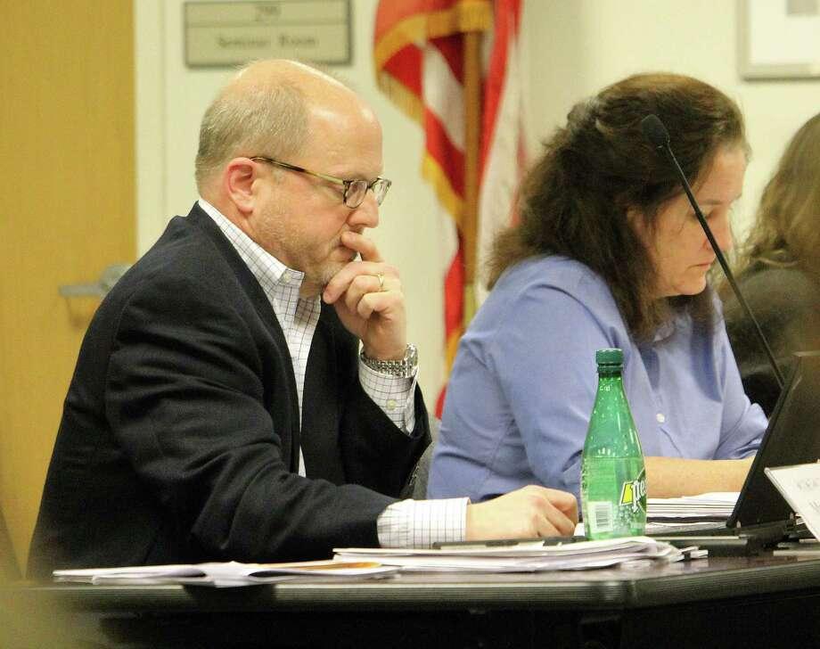Board of Education member John Llewellyn at the board's Jan. 26, 2017 meeting in Fairfield, Conn. Photo: Laura Weiss / Hearst Connecticut Media / Fairfield Citizen