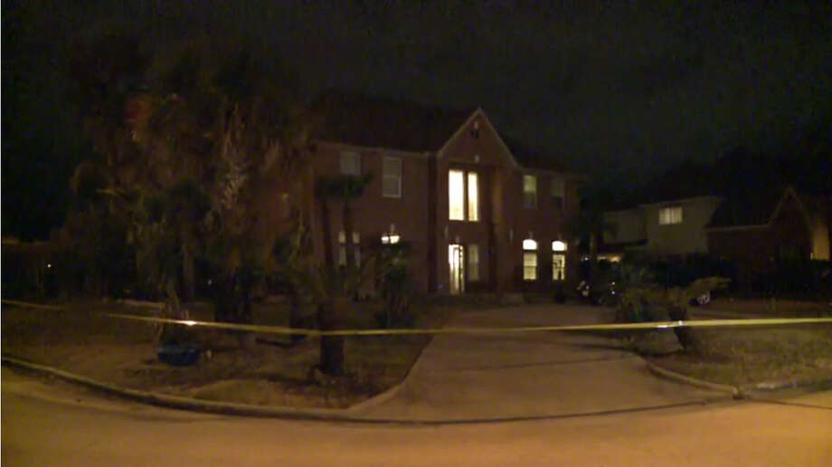 Harris County sheriff's deputies investigate a shooting in Katy that may have come during a home invasion about 3:30 a.m. Saturday, Jan. 28, 2017. (Metro Video) Photo: Metro Video