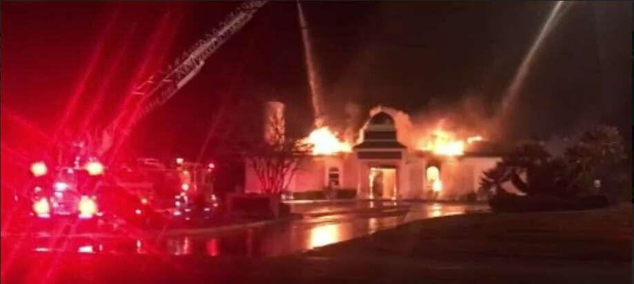 Mosque fire Photo: Victoria Advocate