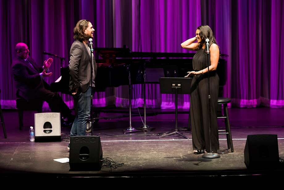 Will Swenson and Audra McDonald trade quips and sing at the Lesher Center for the Arts in Walnut Creek. Photo: Mason Trinca, Special To The Chronicle