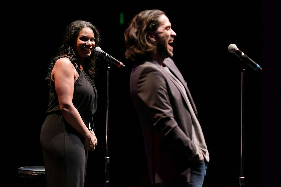 Broadway couple Audra McDonald and Will Swenson chat and sing during an intimate performance at the Hofmann Theatre at the Lesher Center for the Arts in Walnut Creek. Photo: Mason Trinca, Special To The Chronicle