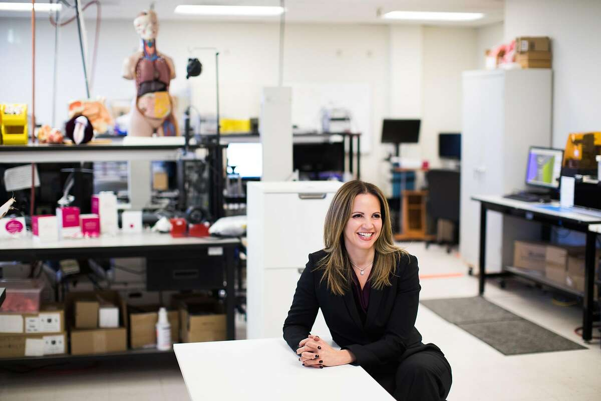 Dr. Leah Millheiser, Chief Scientific Officer, photographed in Nuelle's lab in Mountain View, Calif., Friday, January 27, 2017.