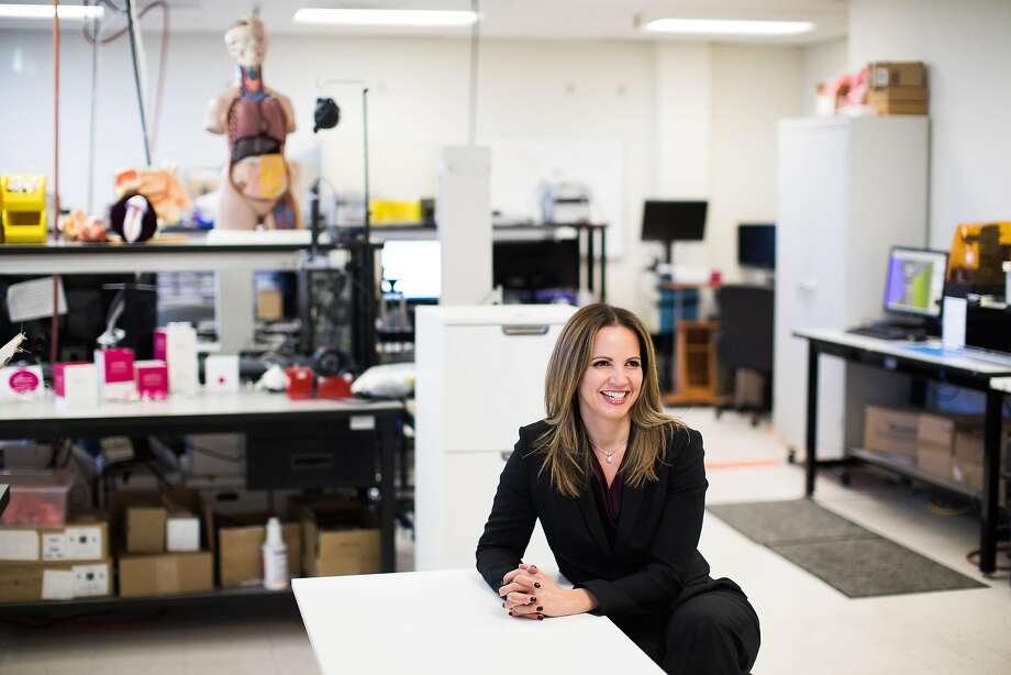 Dr. Leah Millheiser, Nuelle's chief scientific officer, at the company's lab in Mountain View. Nuelle believes science and technology can enhance their relationships. Photo: Mason Trinca, Special To The Chronicle