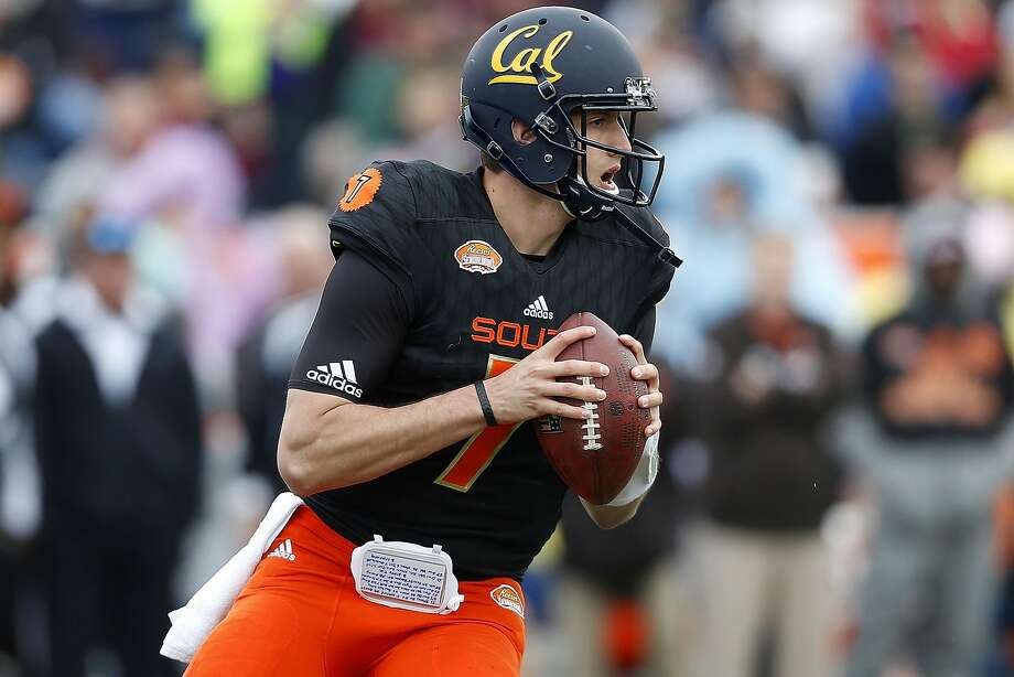 Davis Webb of the South team throws during the first half of the Senior Bowl at Ladd-Peebles Stadium in Mobile, Ala. Webb threw for 37 touchdowns in 12 games this past season at Cal. Photo: Jonathan Bachman, Getty Images