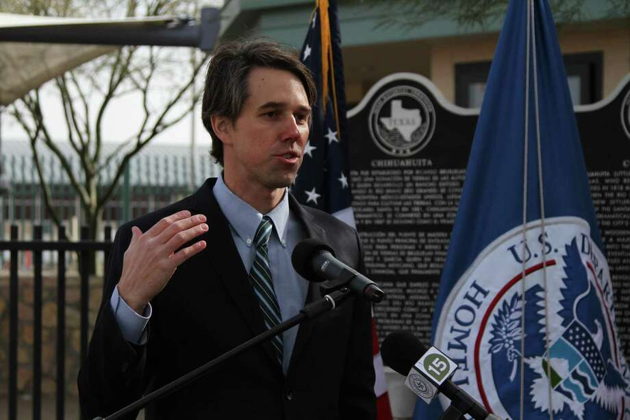 U.S. Rep. Beto O'Rourke speaks at the kick-off ceremony of a private-public partnership at the Paso del Norte Port of Entry in El Paso, Texas, Thursday, Jan. 23, 2014. Customs and Borders Protection is launching a pilot program in which public and private entities are allowed to give money to the federal agency to pay for infrastructure and staffing in order to cut traveler wait times at ports of entry. (AP Photo/Juan Carlos Llorca) Photo: Juan Carlos Llorca, STF / Associated Press / AP