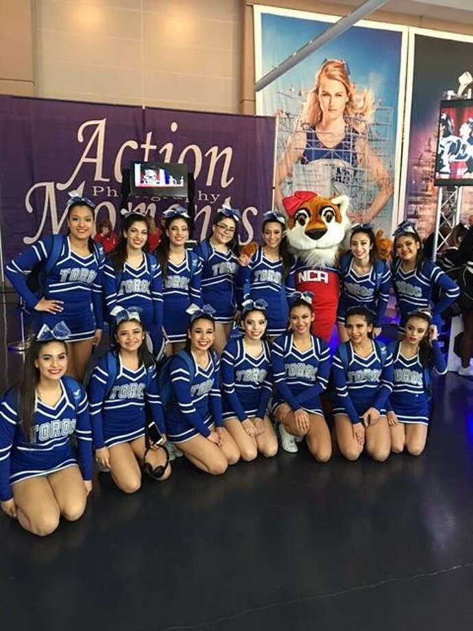 Cigarroa High School cheerleaders garnered fifth place in NCA and have been attending the national competition for the last three years. Photo: Courtesy /Laredo ISD