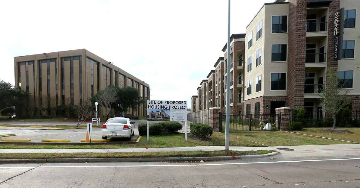 The location of a proposed Houston Housing Authority subsidized-housing complex, at 2640 Fountain View Drive, is seen Monday, Jan. 16, 2017, in Houston. ( Jon Shapley / Houston Chronicle )