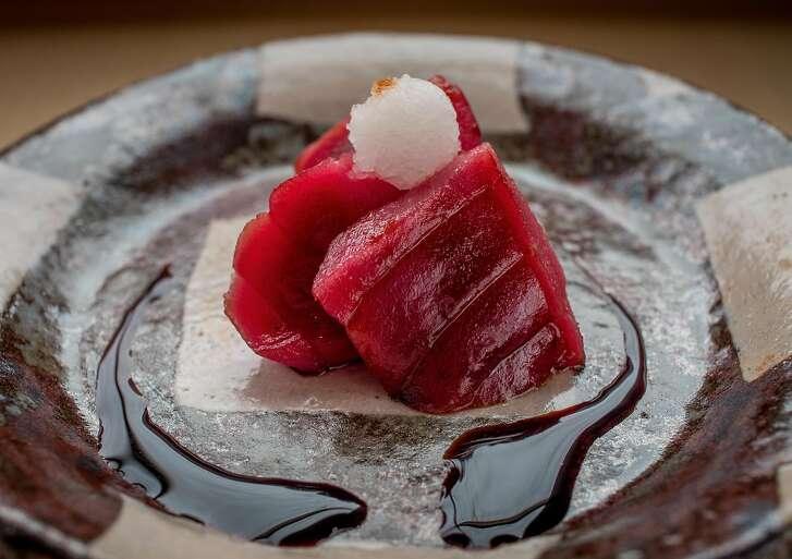 Smoked Bluefin Tuna Sashimi at Kenzo in Napa, Calif. is seen on January 27th, 2017.