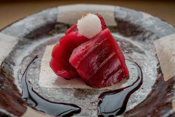 Smoked Bluefin Tuna Sashimi at Kenzo in Napa, Calif. is seen on January 27th, 2017.