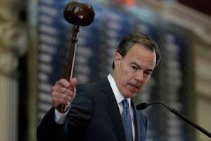 Texas Speaker of the House Joe Straus, R-San Antonio, presides over the opening of the 85th Texas Legislative session in the house chambers at the Texas State Capitol, Tuesday, Jan. 10, 2017, in Austin, Texas. (AP Photo/Eric Gay)