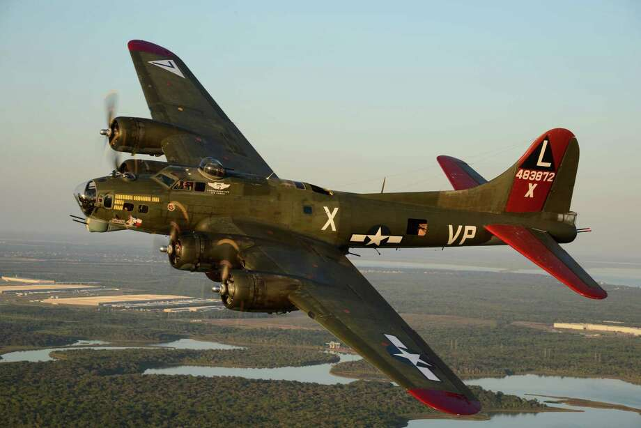 B-17 Flying Fortress Texas Raiders, is moving permanently to a hangar        at General Aviation Services on the north side of Conroe –North Houston        Regional Airport in early February. Photo: Submitted Photo / L.CALIARO