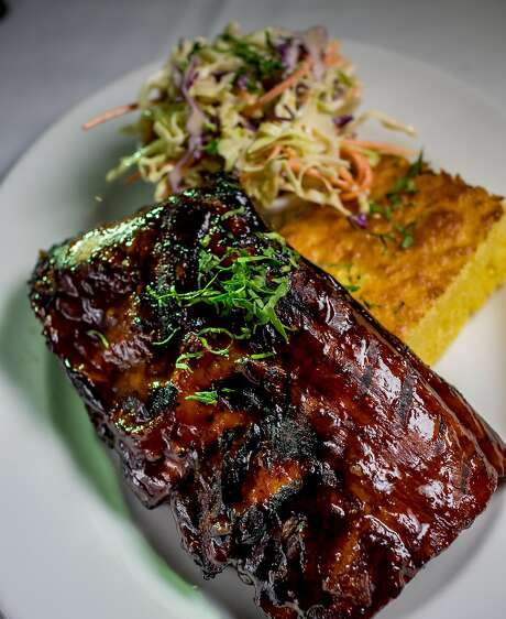 Baby back ribs at Mustards Grill in Napa. Photo: John Storey, Special To The Chronicle