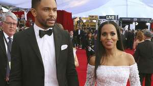 Nnamdi Asomugha, left, and Kerry Washington arrive at the 23rd annual Screen Actors Guild Awards at the Shrine Auditorium & Expo Hall on Sunday, Jan. 29, 2017, in Los Angeles. (Photo by Matt Sayles/Invision/AP)